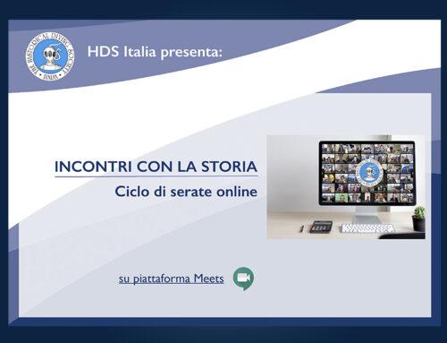 INCONTRI CON LA STORIA. Ciclo di conferenze online di HDS Italia
